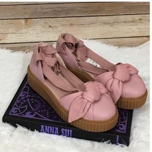 NWOB Fenty Puma Bow Leather Creeper Sandal - 7.5
